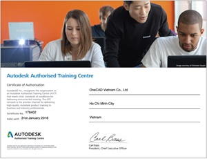 Certified training center from Autodesk