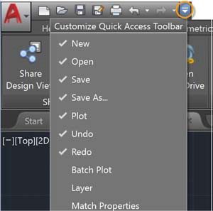 What's New AutoCAD 2018 - Quick Access Toolbar