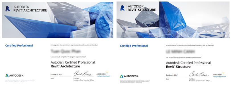 Chứng chỉ Autodesk Certified Professional